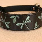 Iridescent Dragonfly Leather Slip Collar (2 inch wide)