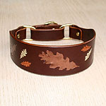 Painted Oak Leaves Martingale Collar (2 inch wide)