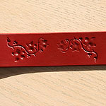 Ivy Leaves Leather Buckle Collar (2 inch wide)