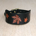 Autumn Maple Leather Buckle Collar