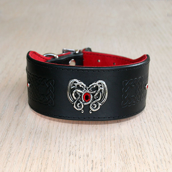 Dragon Heart buckle collar (2 inch wide)