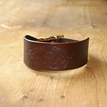 Celtic Greyhounds Leather Buckle Collar (2 inch wide)