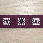 Celtic Squares Alternating Leather Slip Collar (2 inch wide)