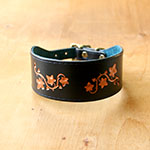 Painted Ivy Leaves Buckle Collar (2 inch wide)