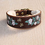 Buckle Collar Dog Roses