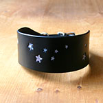 Leather Collar Shimmering Galaxy Stars