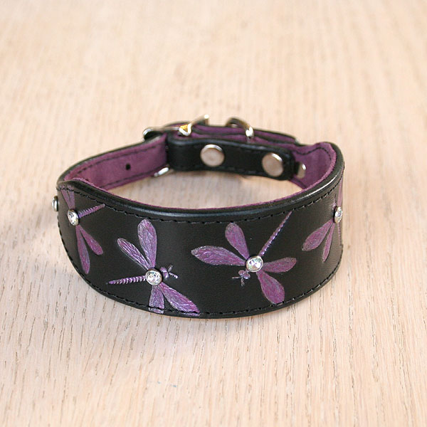 Luxury Iridescent Dragonfly Buckle Collar