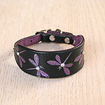 Luxury Iridescent Dragonfly Leather Buckle Collar (small)