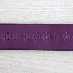 Medieval Squares Leather Slip Collar (2 inch wide)