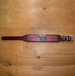 Dragon Heart Leather Buckle Collar (2 inch wide)