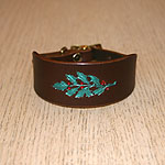 Painted Holly Leather Buckle Collar (small)
