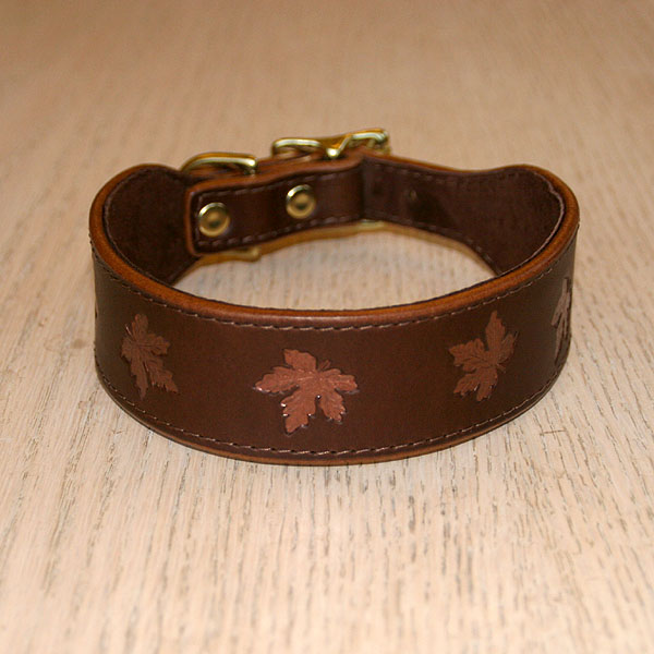 Painted Maple Leaves Buckle Collar (1.5 inch wide)
