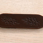 Dog Roses Leather Buckle Collar (2 inch wide)