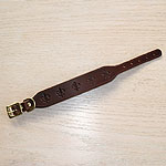 Fleur De Lis Leather Buckle Collar (1.5 inch wide)