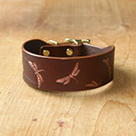 Buckle collar with vintage dragonflies