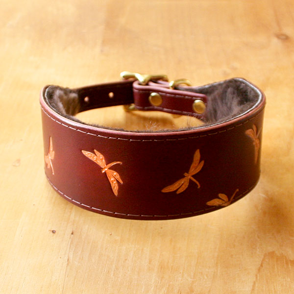 Vintage Dragonflies Buckle Collar (2 inch wide)