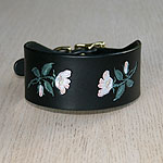 Painted Wild Roses Buckle Collar