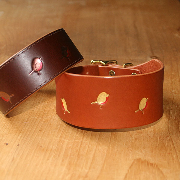 Robbin Leather Buckle Collar (2 inch wide)