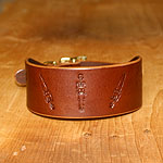 Skeletons Leather Buckle Collar (2 inch wide)