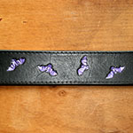 Painted Bats Leather Buckle Collar (1.5 inch wide)