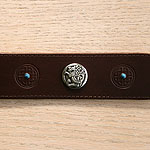 Celtic & Conchos Leather Martingale Collar (1.75 inch wide)