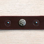 Celtic & Conchos Leather Martingale Collar (2 inch wide)