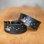Painted Swans and Blossom Martingale Collar