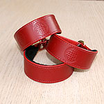 Celtic Circles Leather Slip Collar (small)