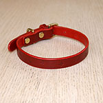 Mini Butterflies Straight Leather Collar (⅝ inch wide)