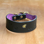 Random Painted Little Bees Buckle Collar (1.5 inch wide)