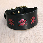 Buckle Collar Painted Skulls