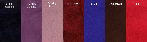 Available Suede Lining Colours